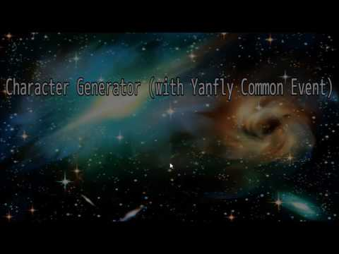 In Game Character Creator RPGmakerMV (With Yanfly Plugins