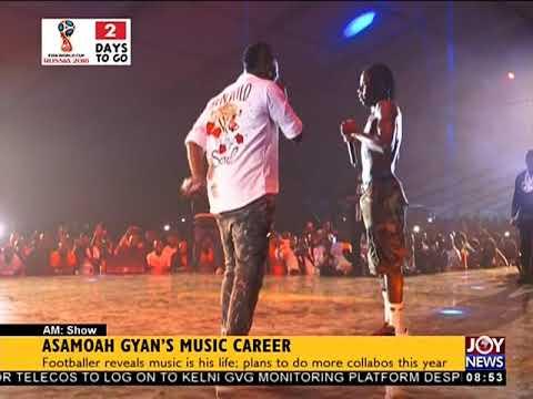 Asamoah Gyan's Music Career - AM Showbiz on JoyNews (12-6-18)