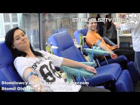Stomilowcy oddali krew przed meczem Stomil Olsztyn - Kolejarz Stróże