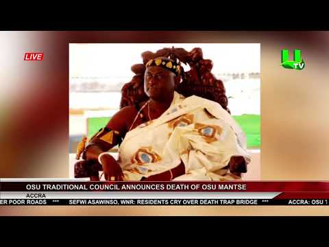 Osu Traditional Council Announces Death Of Osu Mantse