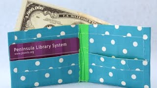 How To Make A Duct Tape Wallet | Sophies World