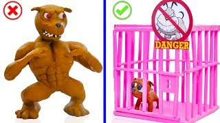 SUPERHERO BABY SAVES WILD PUPPY DOG 💖 Play Doh Cartoons For Kids