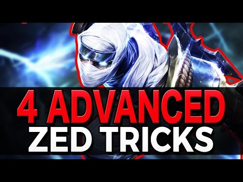 4 ADVANCED ZED TRICKS - Outplay Techniques - League of Legends