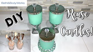 HOW TO REPURPOSE CANDLES | BATH AND BODY WORKS | HOW TO CLEAN CANDLES | DIY
