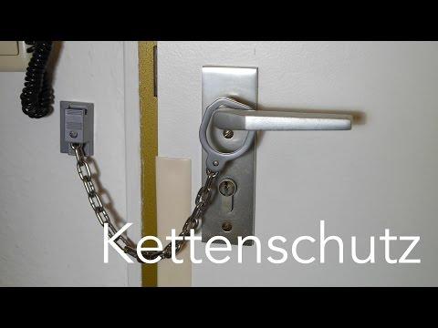 Kettenschutz an der Haustür montieren   Anleitung