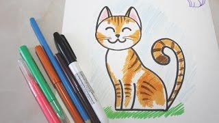 Как нарисовать кошку поэтапно? Рисуем сами.