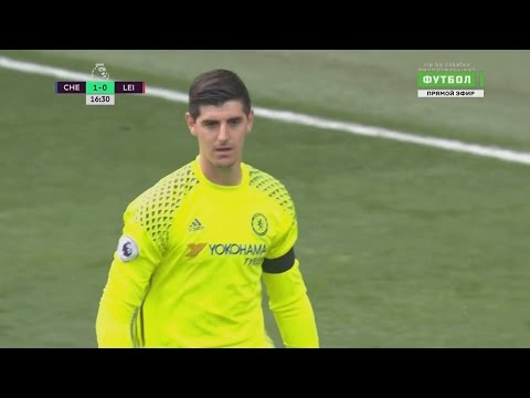 Thibaut Courtois vs Leicester (H) 15.10.2016 HD 720p 50fps