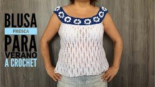 blusa fresca para verano a crochet