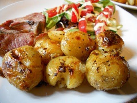 Video Crispy Garlic New Potatoes Gluten Free