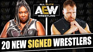 20 More Wrestlers That HAVE SIGNED To All Elite Wrestling! (Jon Moxley, Awesome Kong & More!)