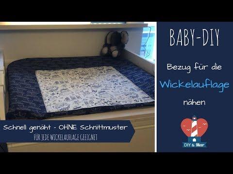 🛠 Bezug für die Wickelauflage nähen | OHNE Schnittmuster | DIY für Babys