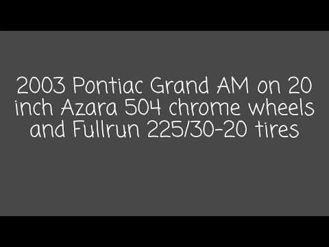 2003 Pontiac Grand AM on 20 inch Azara 504 chrome wheels and Fullrun 225/30-20 tires