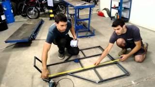 Kart Cross Construção Artesanal FASE 1 - Base Do Chassi