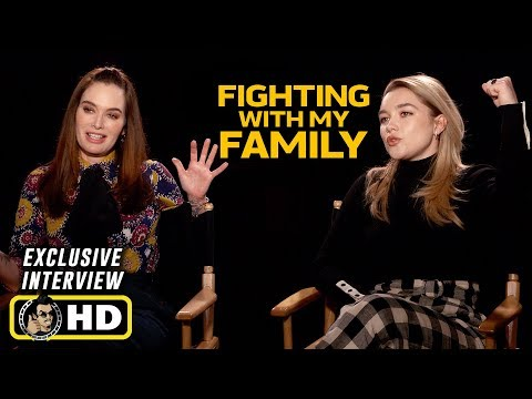 Florence Pugh & Lena Headey Interview for Fighting With My Family