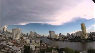 2015-06-04 Timelapse - Day into Night, Chao Phraya River, Bangkok