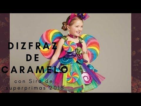 Un disfraz de caramelo 🍭 para Sira / paso a paso - carnaval 2019