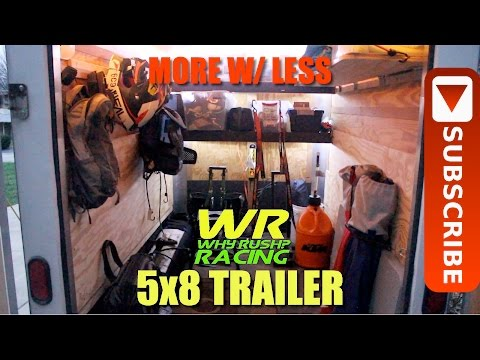 Gear Review: 5×8 Enclosed Motorcycle Hauling Trailer