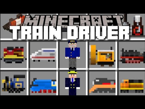 Minecraft TRAIN DRIVER MOD / PILOT TRAINS AND GO IN TO STATIONS FOR CHALLENGE!! Minecraft