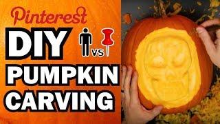 DIY Pumpkin Carving Contest - Man Vs Corinne Vs Pin