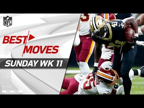 Best Moves from Sunday: Jukes, Spins, Stiff Arms & More! | NFL Wk 11 Highlights