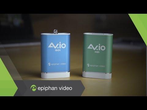 AV.io video grabbers - HDMI, SDI, DVI, VGA Video Capture over USB 3.0