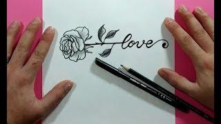 Como Dibujar Una Rosa Paso A Paso 17 | How To Draw A Rose 17