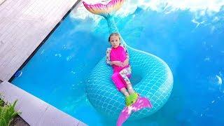 ОБЫЧНОЕ против НАДУВНОГО #5 /Дети играют в бассейне с Надувашками / Бассейн ЧЕЛЛЕНДЖ с Николь Крейзи