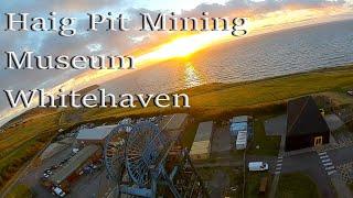 Whitehaven Haig Pit Saltom Bay Sunset FPV drone flight