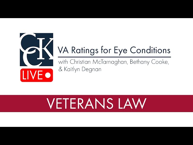 Eye Conditions VA Disability Claims