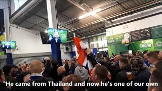 Leicester city's Vichai had a dream chant with lyrics!