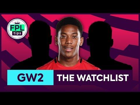 GW2: FPL WATCHLIST | Gameweek 2 | Fantasy Premier League Tips 2019/20