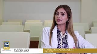 Dr Amena Shariq (Dermatologist, Pakistan), Reviewing A4M Fellowship in Aesthetic Medicine