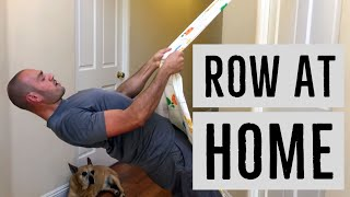 How To Do Incline Rows With Minimal Equipment (Just a bed-sheet and a door) with Antranik
