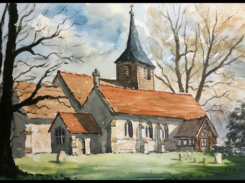 Thumbnail of Roxwell Church, Essex. (watercolour demonstration)