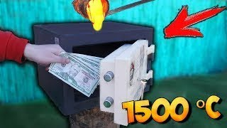 Kann ein Feuerfester Tresor 1000$ von Glühende Lava retten? - Power Test