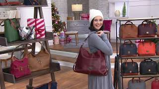 Dooney & Bourke Florentine Leather Twist Sac Shoulder Bag On QVC