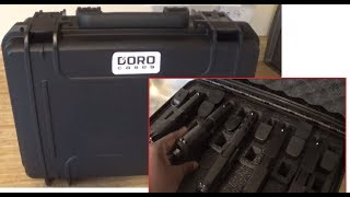Heavy Duty Waterproof GUN CASE with 5 Pistol Insert Foam - DORO Cases