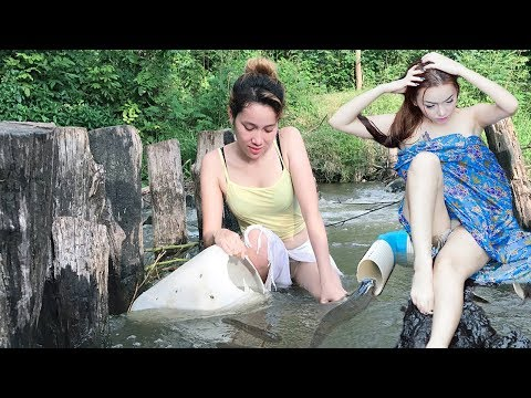 Top 10 Viral Traditional Fishing n Cooking Video 2017-Amazing Beautiful Girl Spear Fishing-Fish Trap