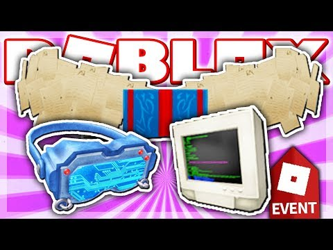 HOW TO GET THE BOOK WINGS, MOTHERBOARD VISOR & CLASSIC PC HAT! (Roblox CREATOR CHALLENGE EVENT 2018)