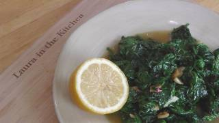 Garlic Sauteed Spinach – Recipe by Laura Vitale – Laura in the Kitchen Episode 196