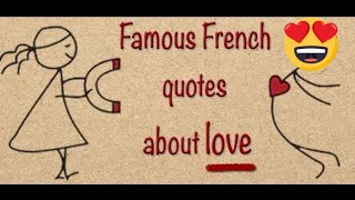 Famous French Quotes About Love