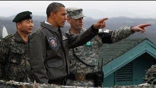 Obama peers into North Korea over