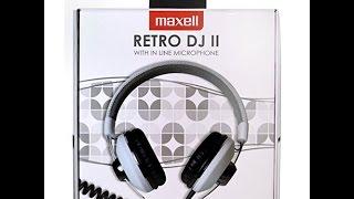 Maxell Retro 2 DJ Kopfhörer Smartphone Music Headphones Sound Test Review and Unboxing control