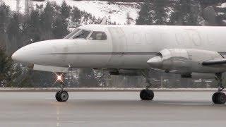 Fairchild Swearingen Metro II Takeoff - Great Turboprop Sound!