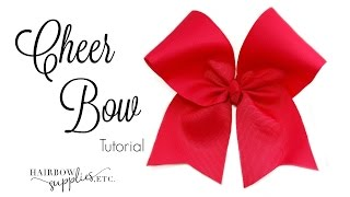 How To Make A Cheer Bow Tutorial - DIY Cheerleading Hair Bow - Hairbow Supplies, Etc.
