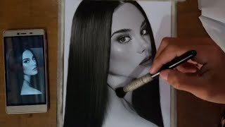 REALISTIC DRAWING CATRIONA GRAY SPEED DRAWING | CHARCOAL PORTRAIT