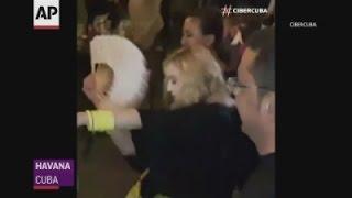 Madonna parties in Cuba