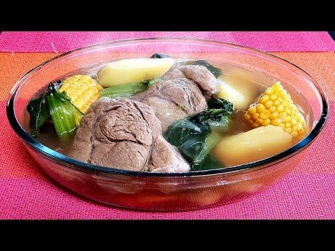 Easy Beef Shank Soup/ Sopa de carne fácil