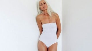 60 year old model in swimwear campaign