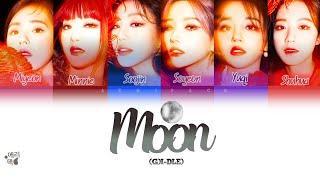 (G)I-DLE- Moon (Tradução codificada em cores, Legendado HAN/ROM/PT-BR)
